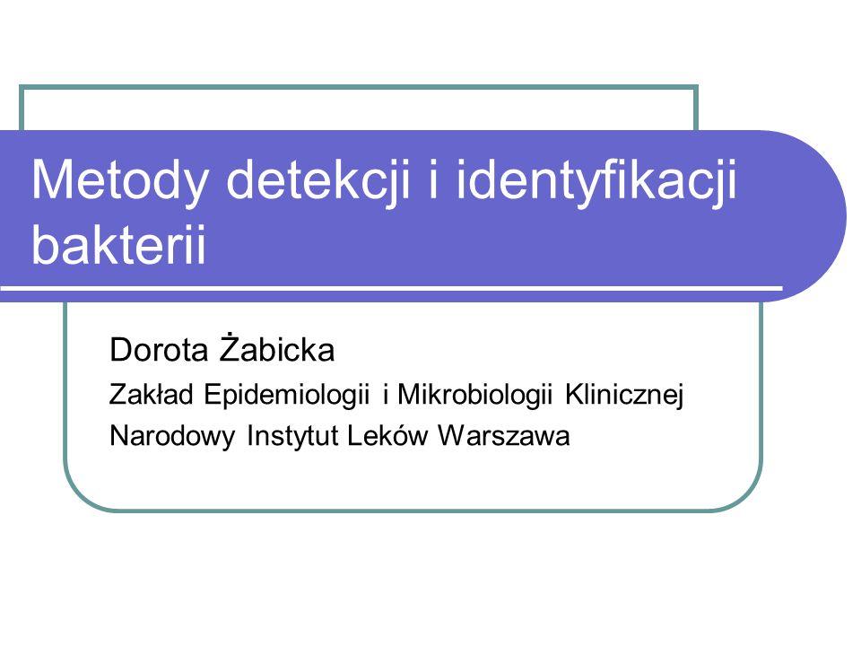 Metody detekcji i identyfikacji bakterii