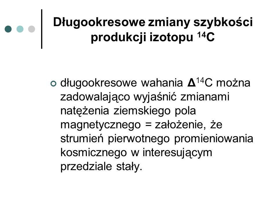 Długookresowe zmiany szybkości produkcji izotopu 14C
