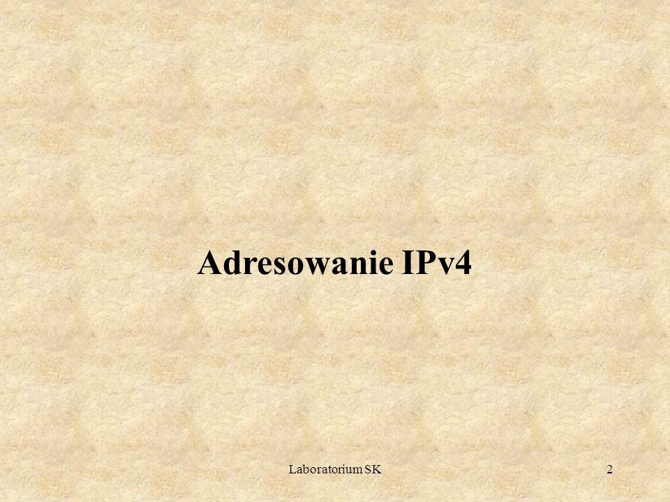 Adresowanie IPv4 Laboratorium SK