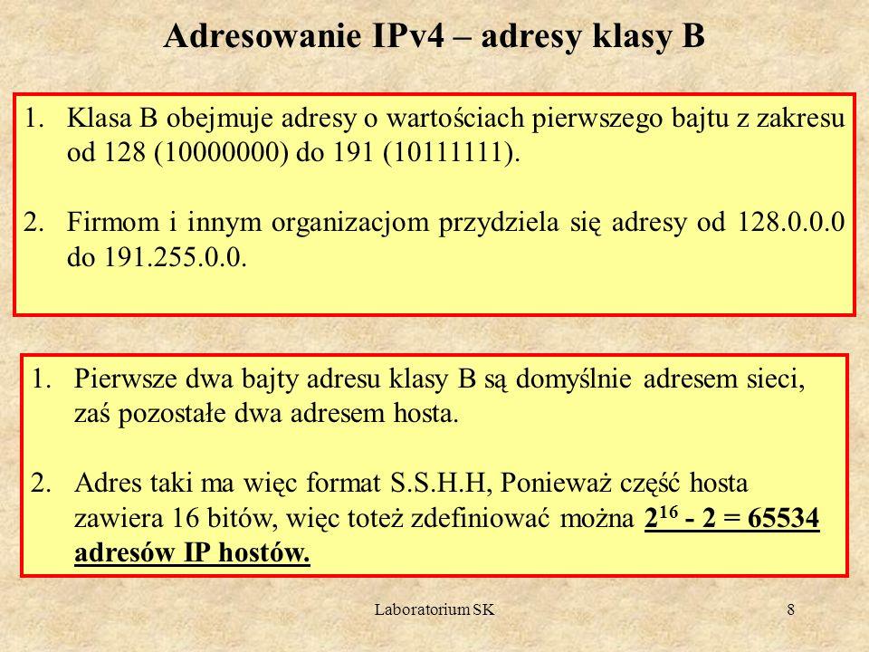 Adresowanie IPv4 – adresy klasy B