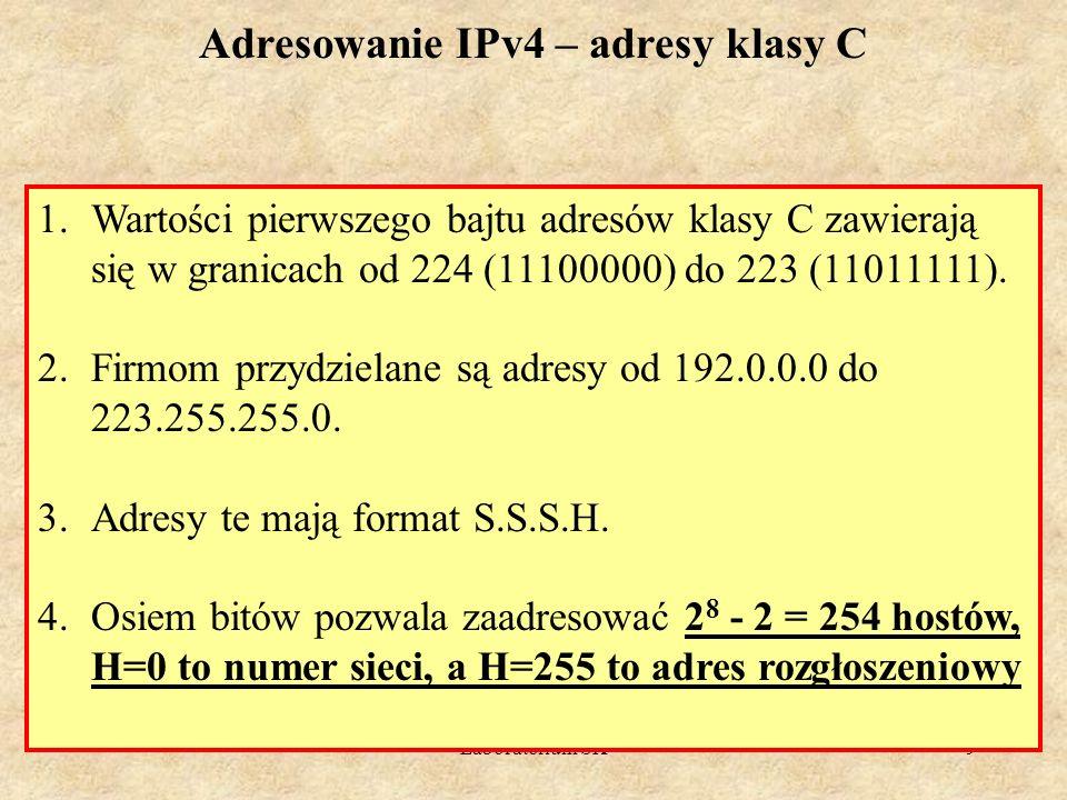 Adresowanie IPv4 – adresy klasy C