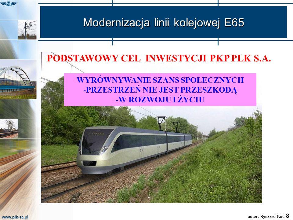 Modernizacja linii kolejowej E65