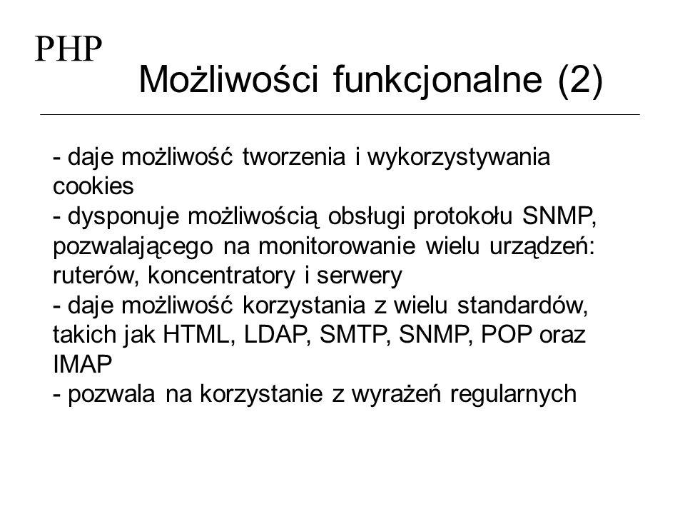 Możliwości funkcjonalne (2)