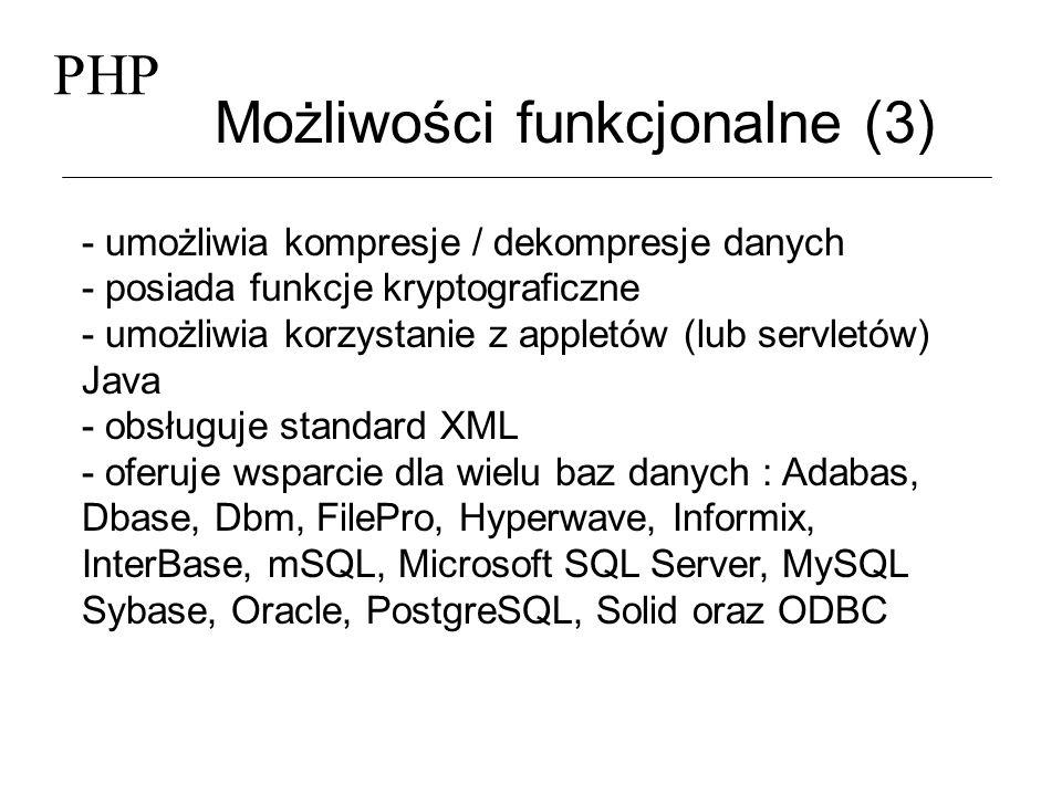 Możliwości funkcjonalne (3)