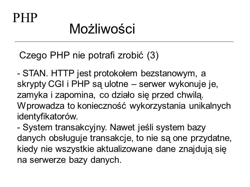 PHP Możliwości Czego PHP nie potrafi zrobić (3)