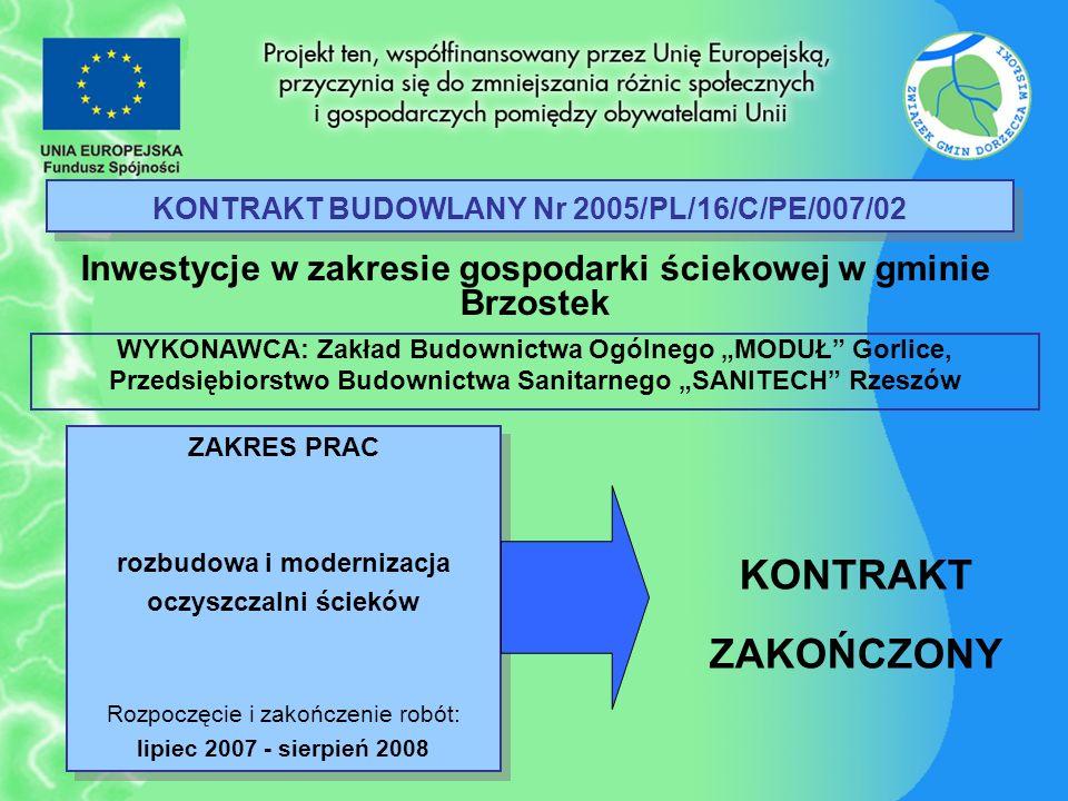 KONTRAKT BUDOWLANY Nr 2005/PL/16/C/PE/007/02