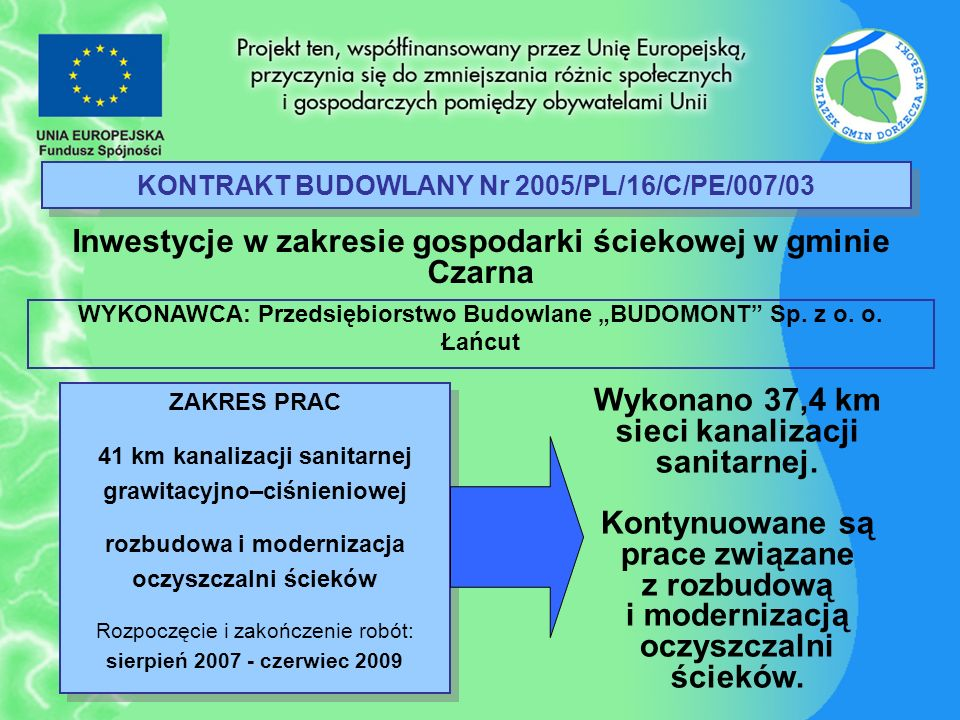 KONTRAKT BUDOWLANY Nr 2005/PL/16/C/PE/007/03