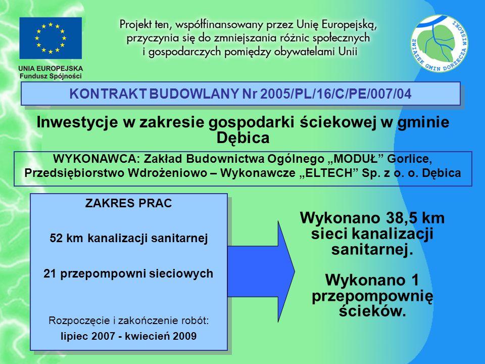 KONTRAKT BUDOWLANY Nr 2005/PL/16/C/PE/007/04