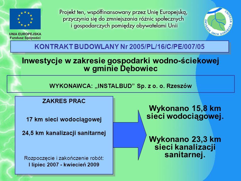 KONTRAKT BUDOWLANY Nr 2005/PL/16/C/PE/007/05