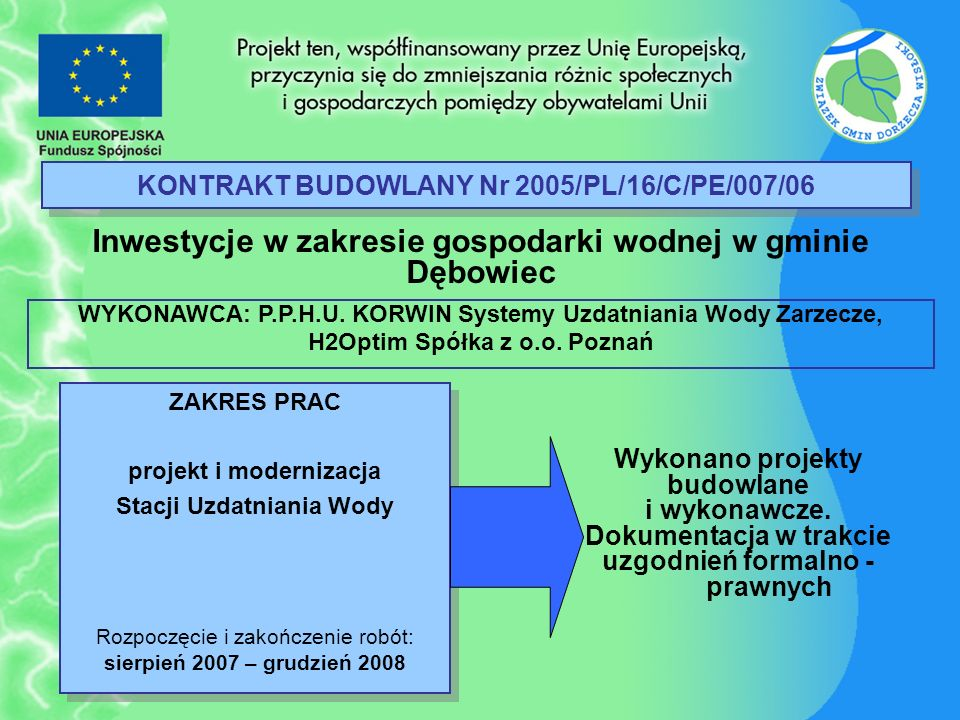 KONTRAKT BUDOWLANY Nr 2005/PL/16/C/PE/007/06