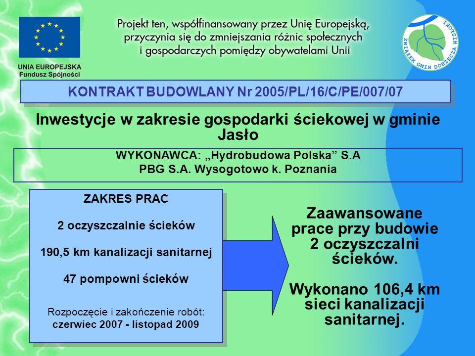 KONTRAKT BUDOWLANY Nr 2005/PL/16/C/PE/007/07