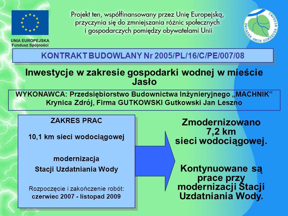 KONTRAKT BUDOWLANY Nr 2005/PL/16/C/PE/007/08