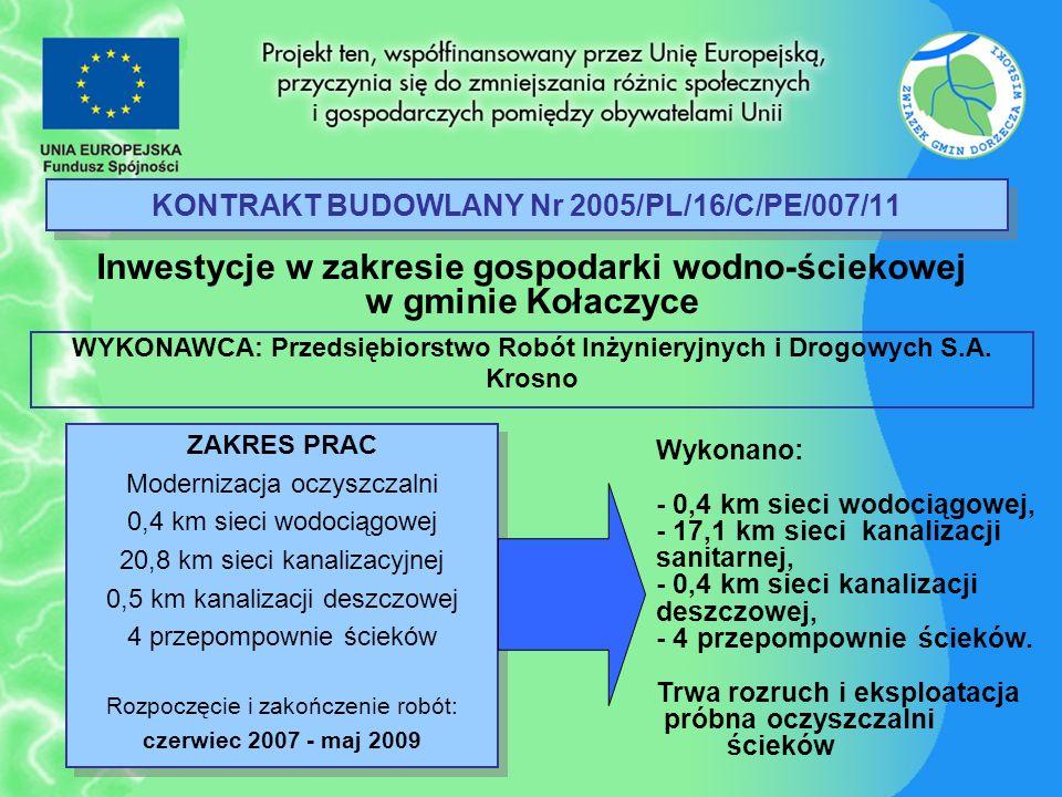 KONTRAKT BUDOWLANY Nr 2005/PL/16/C/PE/007/11