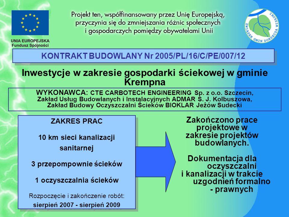 KONTRAKT BUDOWLANY Nr 2005/PL/16/C/PE/007/12