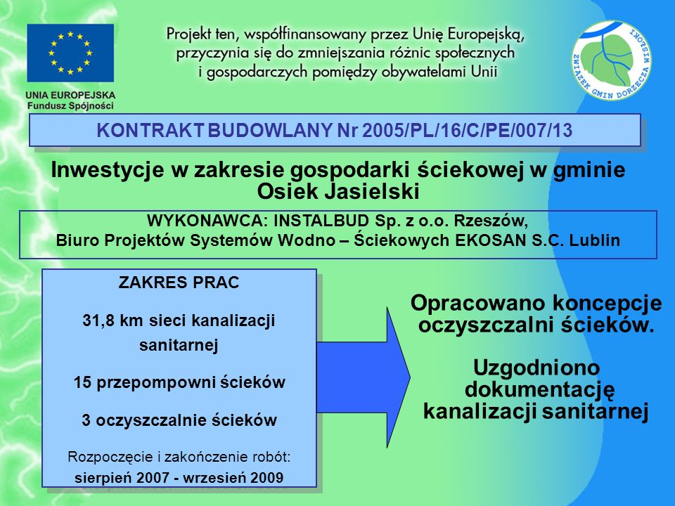 KONTRAKT BUDOWLANY Nr 2005/PL/16/C/PE/007/13