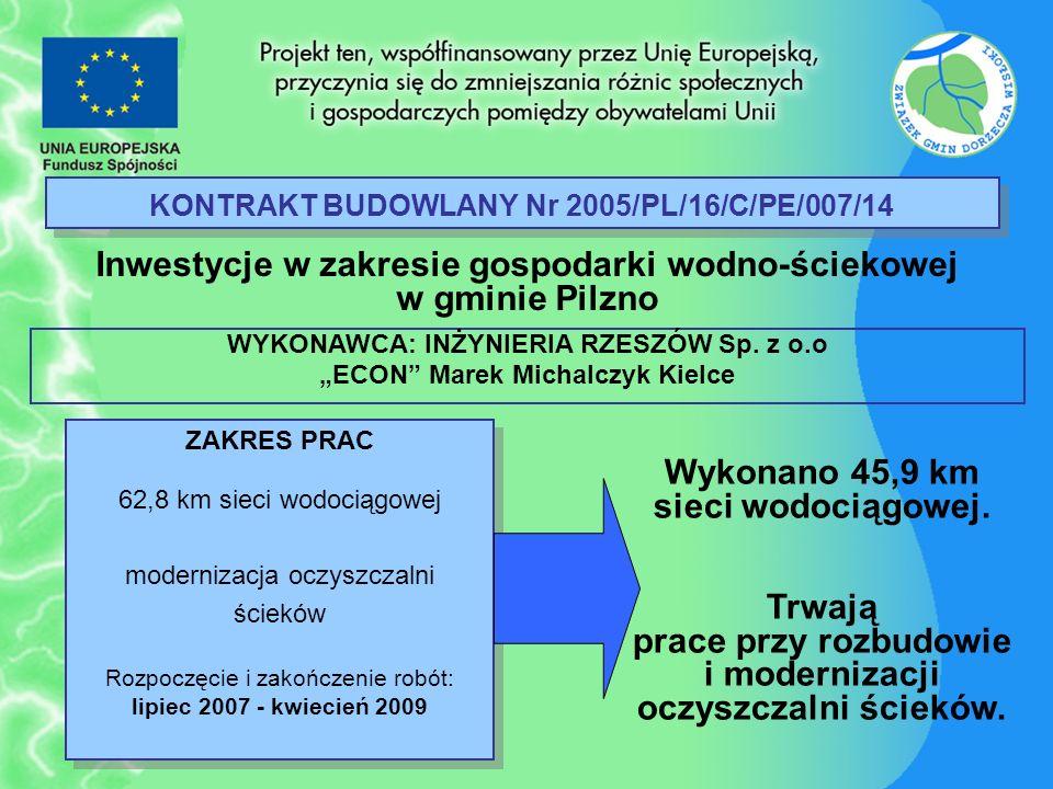 KONTRAKT BUDOWLANY Nr 2005/PL/16/C/PE/007/14