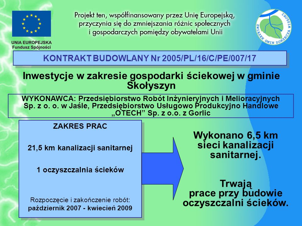 KONTRAKT BUDOWLANY Nr 2005/PL/16/C/PE/007/17