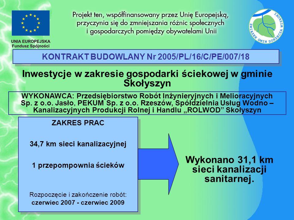 KONTRAKT BUDOWLANY Nr 2005/PL/16/C/PE/007/18