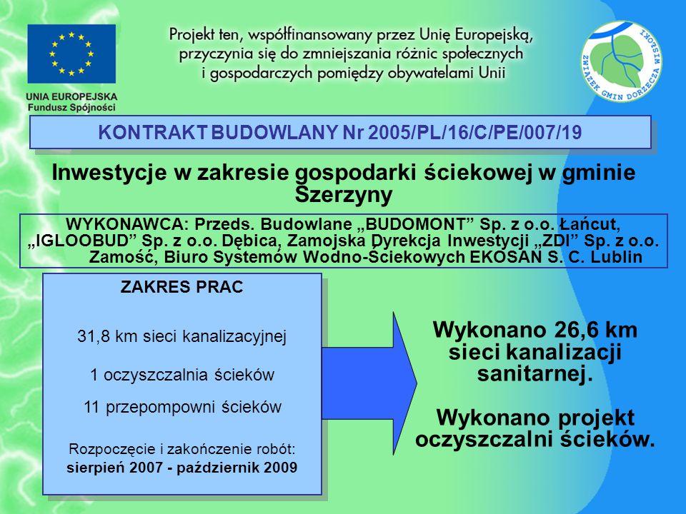 KONTRAKT BUDOWLANY Nr 2005/PL/16/C/PE/007/19