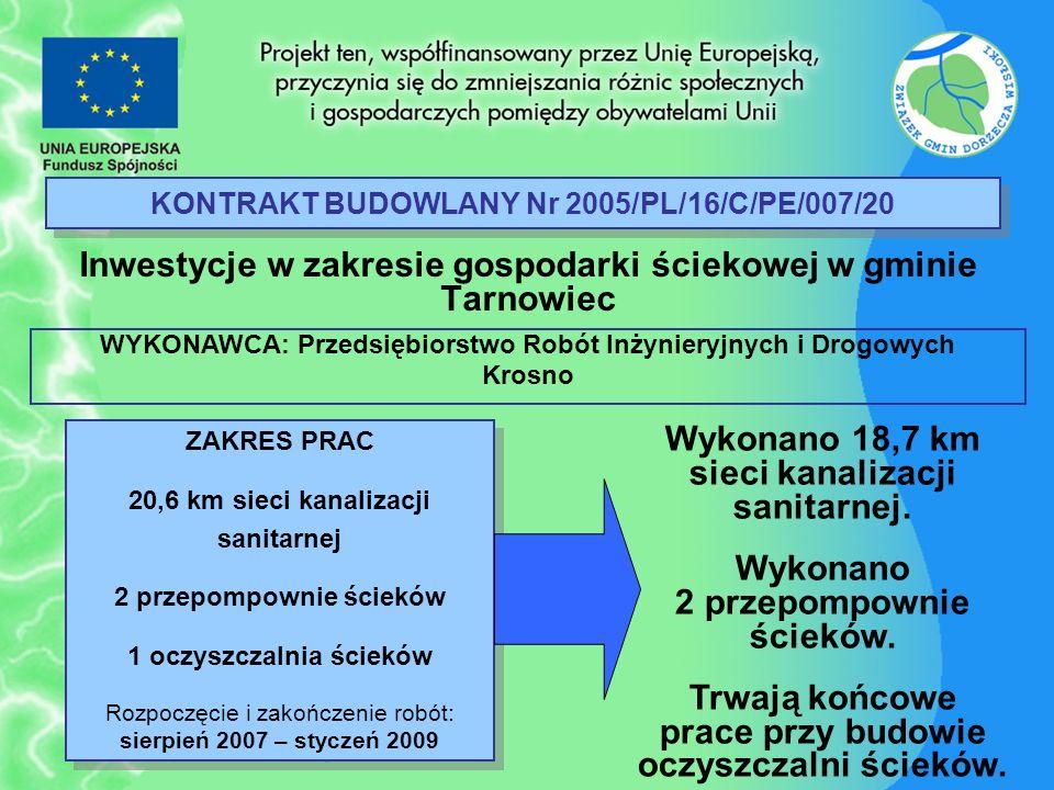 KONTRAKT BUDOWLANY Nr 2005/PL/16/C/PE/007/20