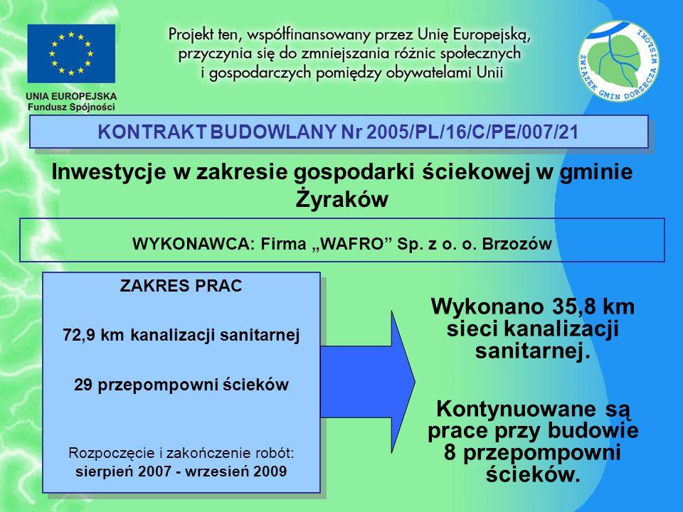 KONTRAKT BUDOWLANY Nr 2005/PL/16/C/PE/007/21