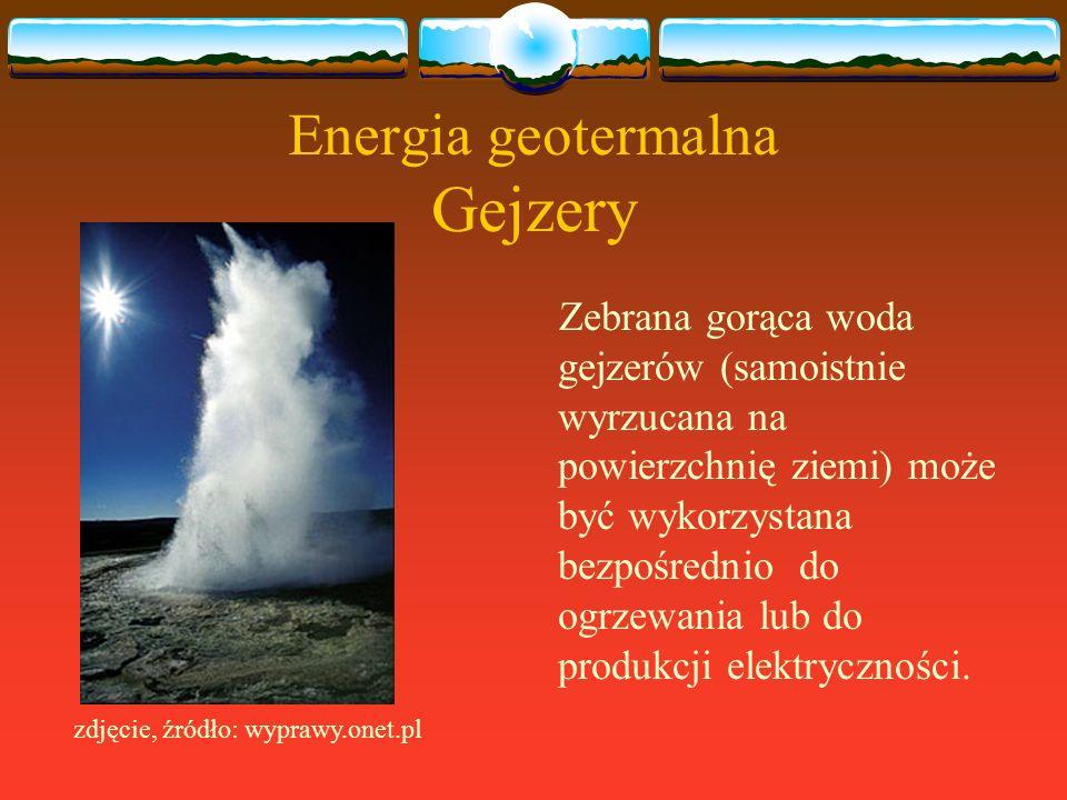 Energia geotermalna Gejzery