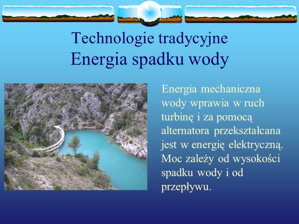 Technologie tradycyjne Energia spadku wody