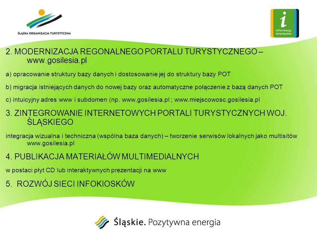 2. MODERNIZACJA REGONALNEGO PORTALU TURYSTYCZNEGO – www.gosilesia.pl