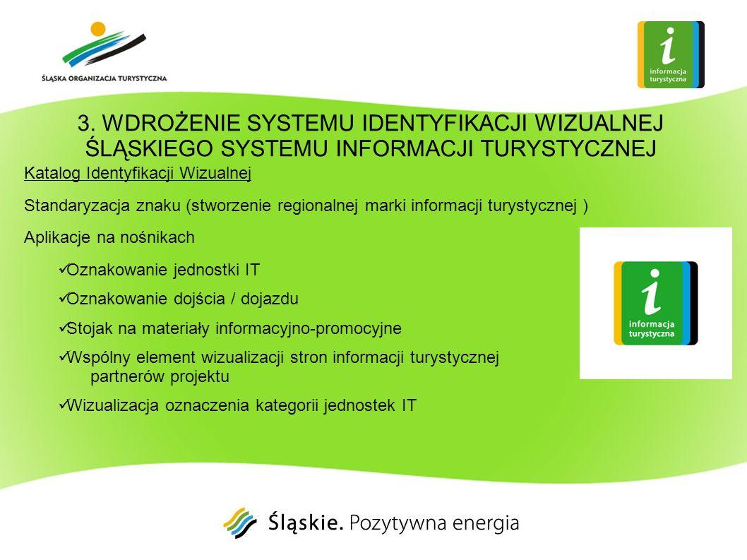 3. WDROŻENIE SYSTEMU IDENTYFIKACJI WIZUALNEJ ŚLĄSKIEGO SYSTEMU INFORMACJI TURYSTYCZNEJ