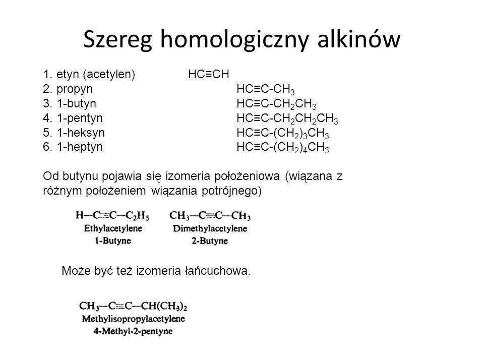 Szereg homologiczny alkinów