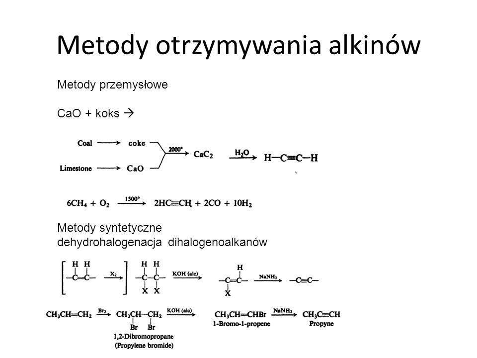 Metody otrzymywania alkinów