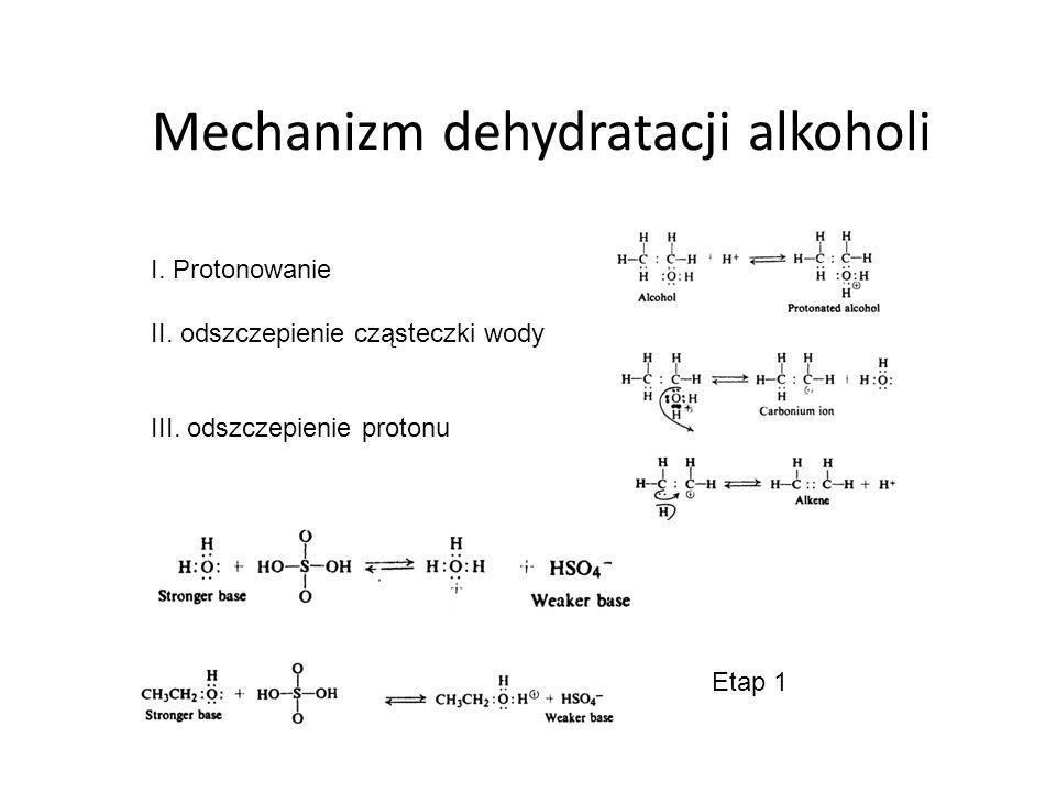 Mechanizm dehydratacji alkoholi