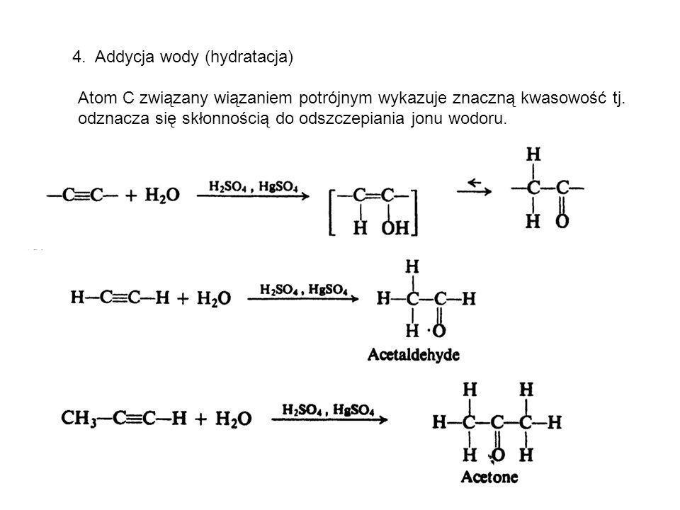 4. Addycja wody (hydratacja)