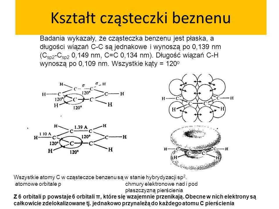 Kształt cząsteczki beznenu