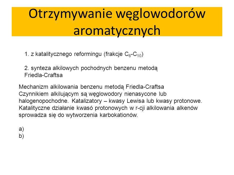 Otrzymywanie węglowodorów aromatycznych