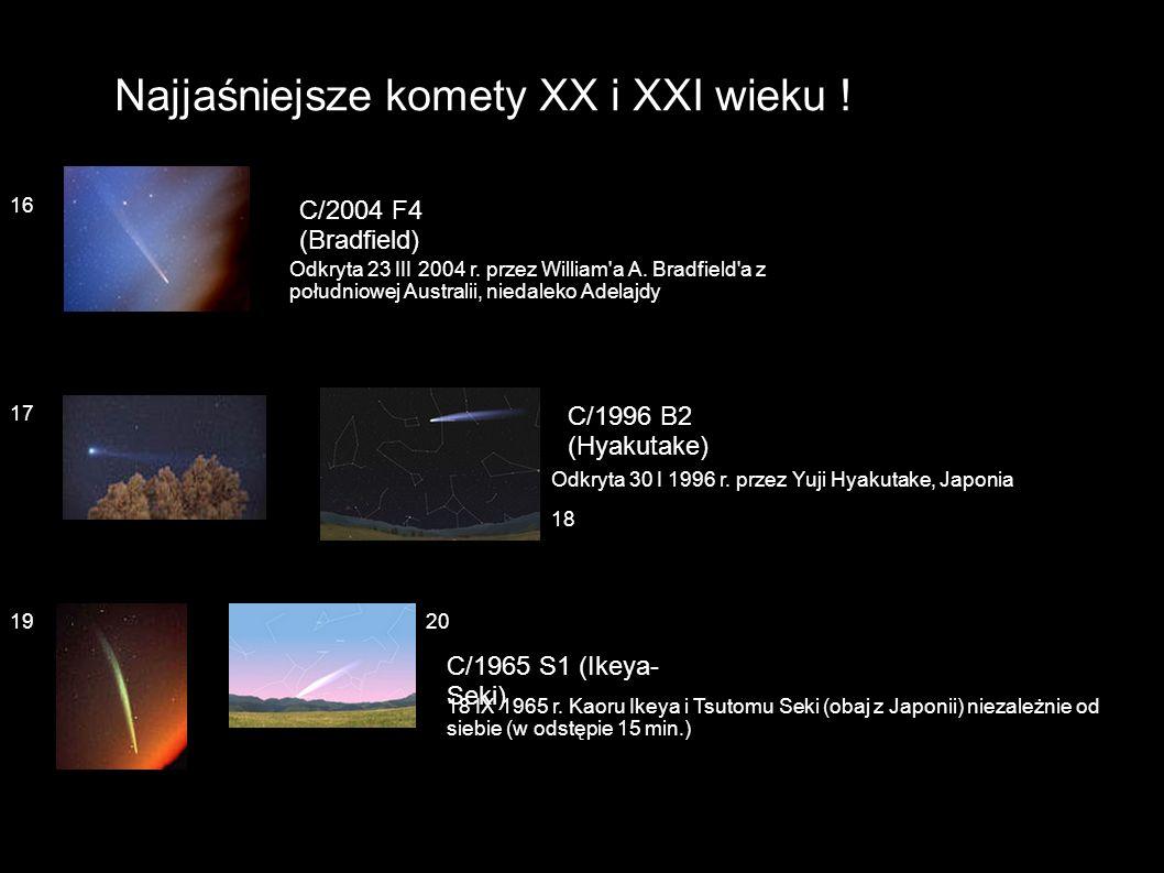 Najjaśniejsze komety XX i XXI wieku !