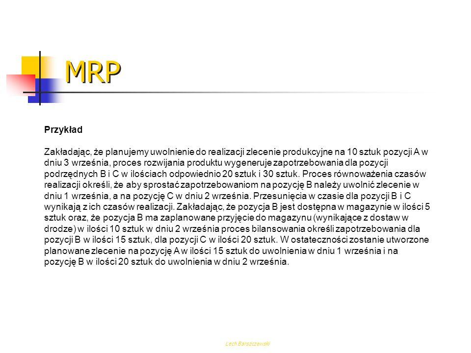 MRP Przykład.