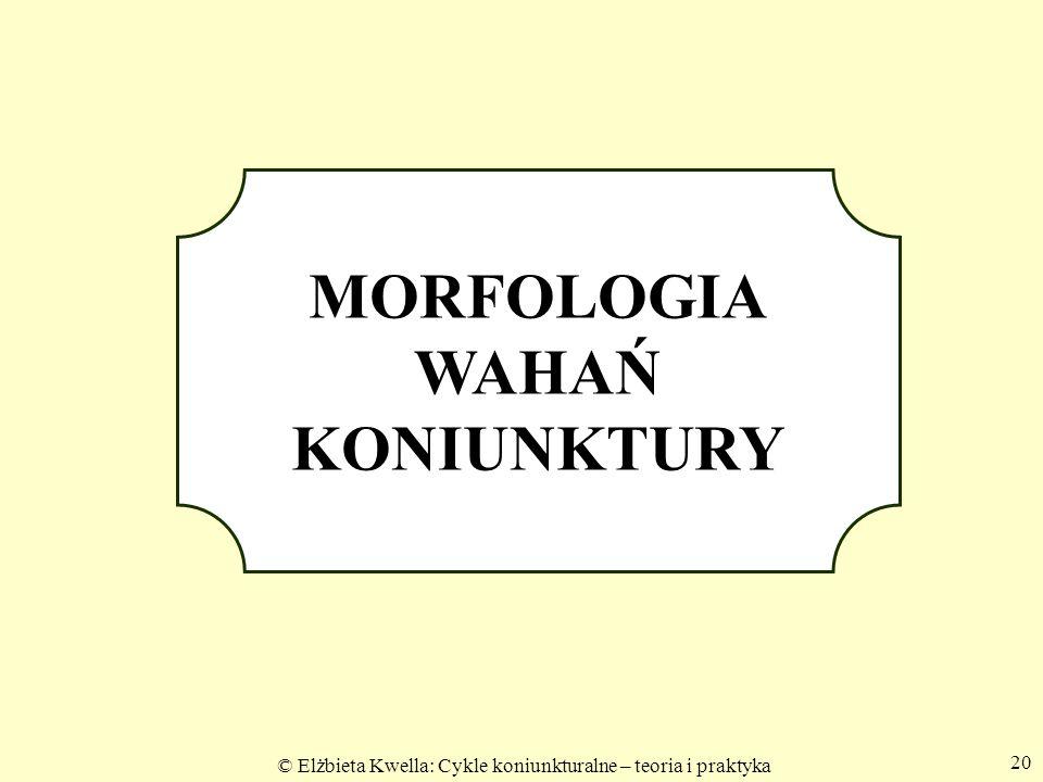 MORFOLOGIA WAHAŃ KONIUNKTURY