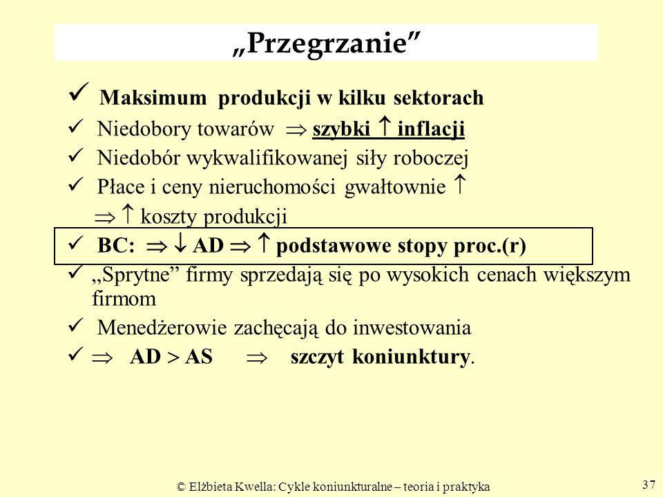 Maksimum produkcji w kilku sektorach