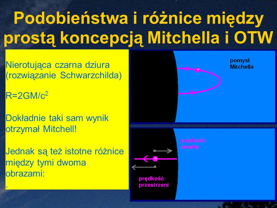 Podobieństwa i różnice między prostą koncepcją Mitchella i OTW