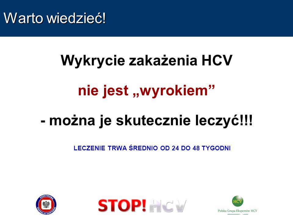 Wykrycie zakażenia HCV - można je skutecznie leczyć!!!