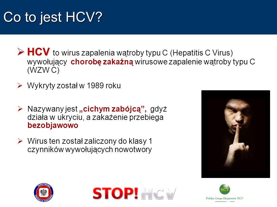 Co to jest HCV HCV to wirus zapalenia wątroby typu C (Hepatitis C Virus) wywołujący chorobę zakaźną wirusowe zapalenie wątroby typu C (WZW C)