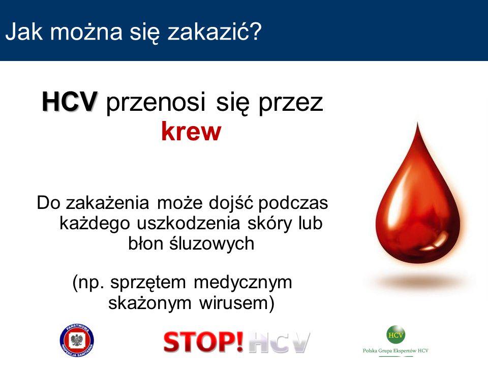 HCV przenosi się przez krew