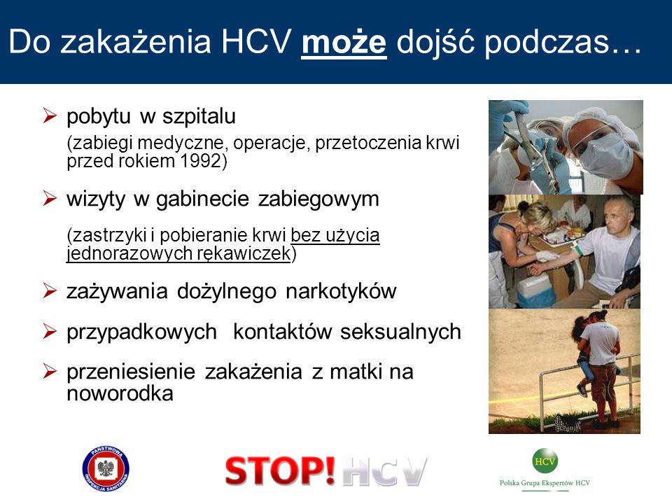 Do zakażenia HCV może dojść podczas…