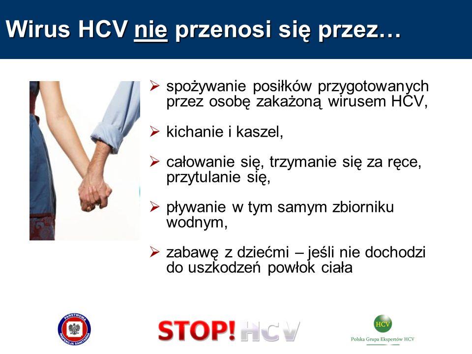 Wirus HCV nie przenosi się przez…