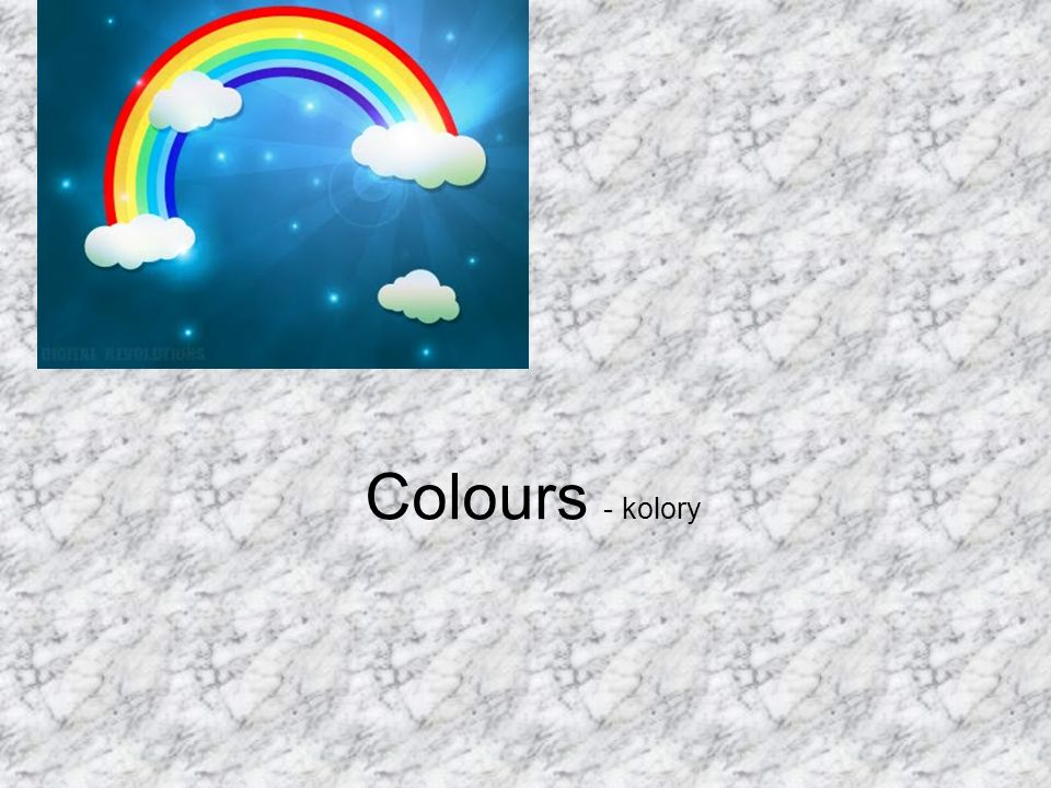 Colours - kolory