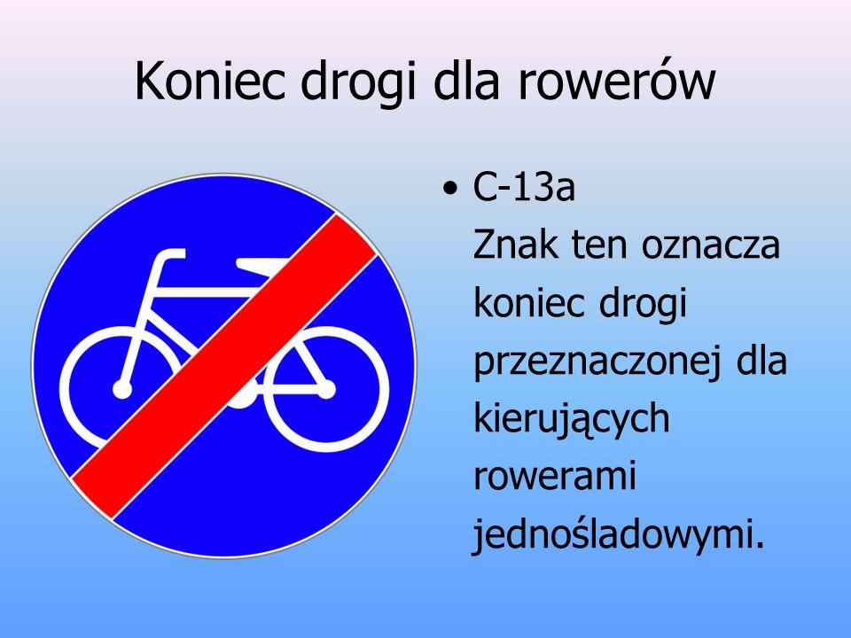 Koniec drogi dla rowerów