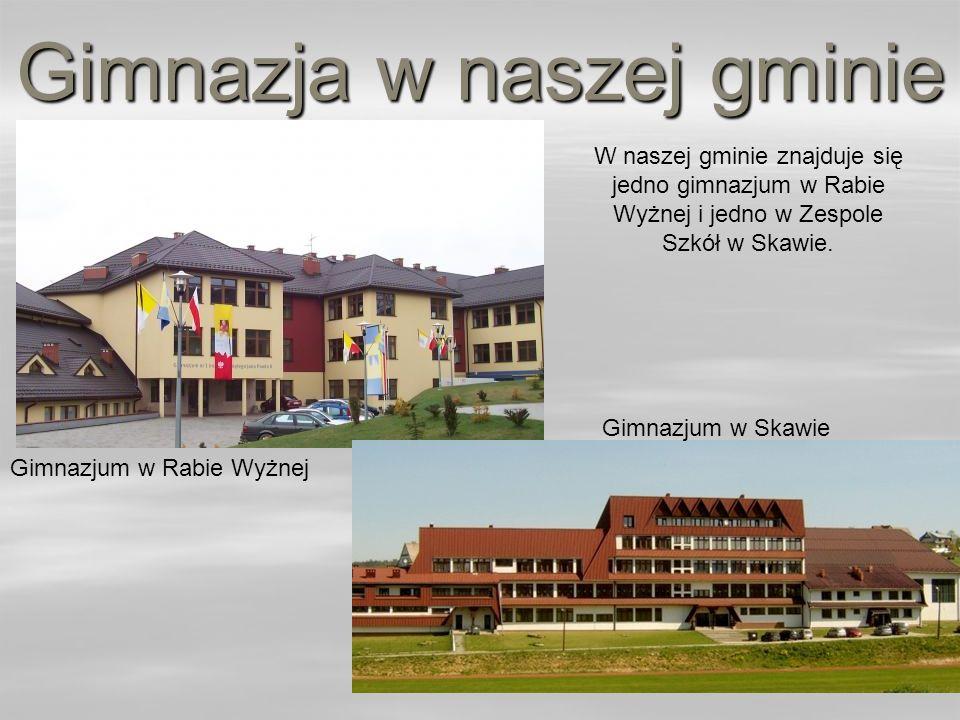 Gimnazja w naszej gminie