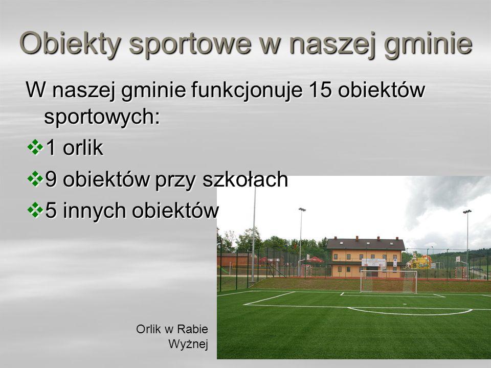 Obiekty sportowe w naszej gminie