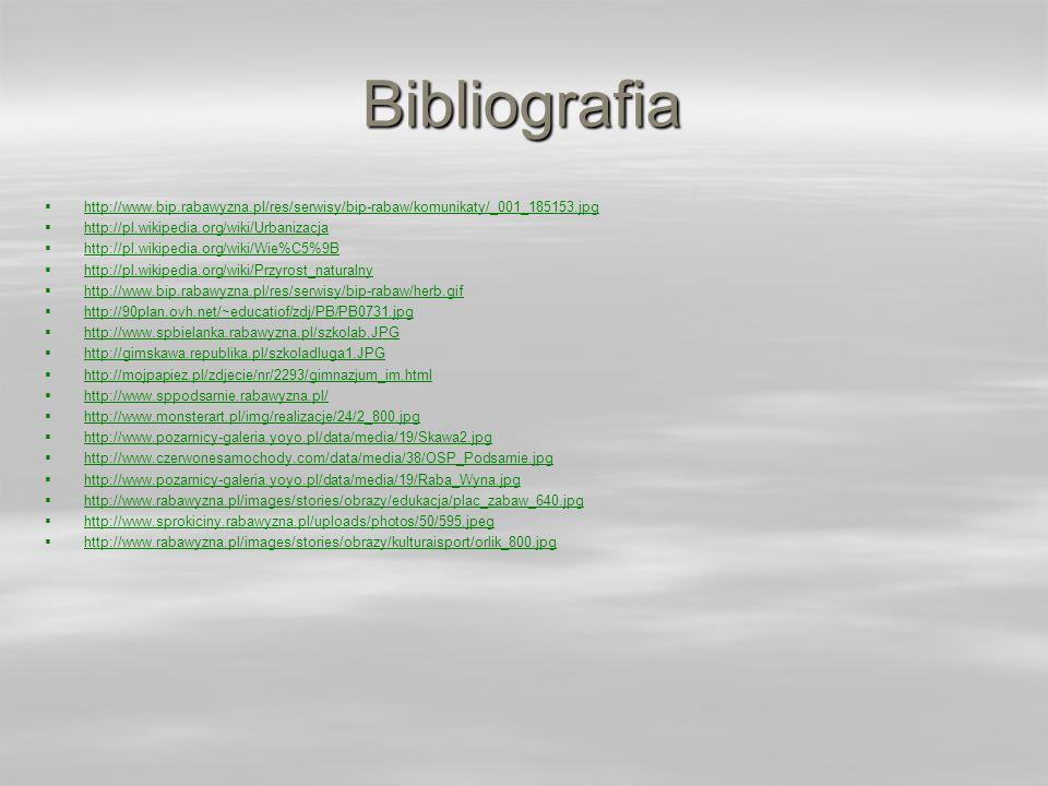 Bibliografia http://www.bip.rabawyzna.pl/res/serwisy/bip-rabaw/komunikaty/_001_185153.jpg. http://pl.wikipedia.org/wiki/Urbanizacja.